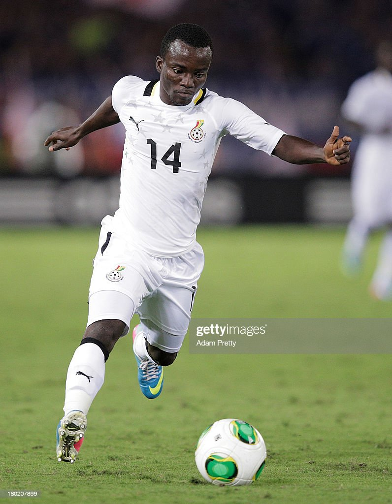 Solomon Asante of Ghana in action during the international friendly match between Japan and Ghana at International Stadium Yokohama on September 10, 2013 in Yokohama, Japan.