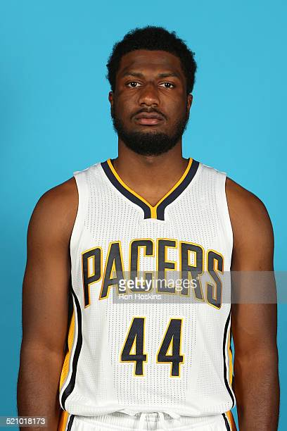 Solomon Hill of the Indiana Pacers during the Pacers media day at Bankers Life Fieldhouse on September 29 2014 in Indianapolis Indiana NOTE TO USER...
