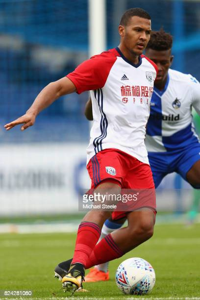 Solomon Rondon of West Bromwich Albion during the pre season match between Bristol Rovers and West Bromwich Albion at the Memorial Stadium on July 29...