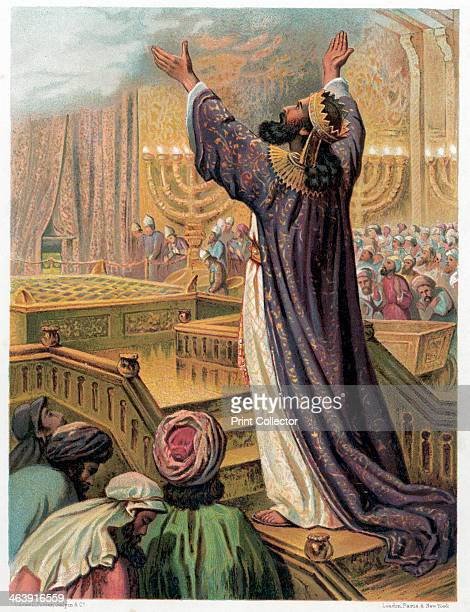 Solomon's prayer at the consecration of the Temple c1870 But I have built an house of habitation for thee and a place for thy dwelling for ever From...
