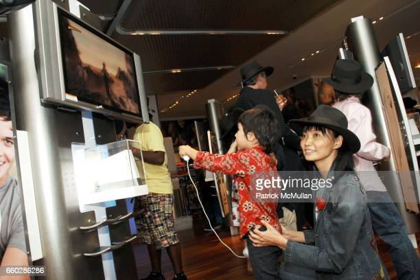 Solongo Levin and Irina Pantaeva attend PreRelease Party for LucasArts New Videogame INDIANA JONES and The STAFF OF KINGS at Nintendo World Store on...
