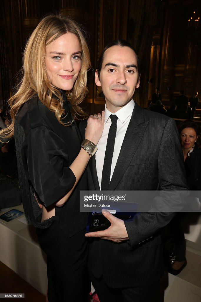 Solveig Karadottir and <a gi-track='captionPersonalityLinkClicked' href=/galleries/search?phrase=Dhani+Harrison&family=editorial&specificpeople=211547 ng-click='$event.stopPropagation()'>Dhani Harrison</a> attend the Stella McCartney Fall/Winter 2013 Ready-to-Wear show as part of Paris Fashion Week on March 4, 2013 in Paris, France.
