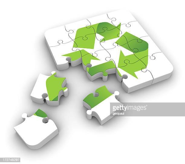 Recycling puzzle Lösung der