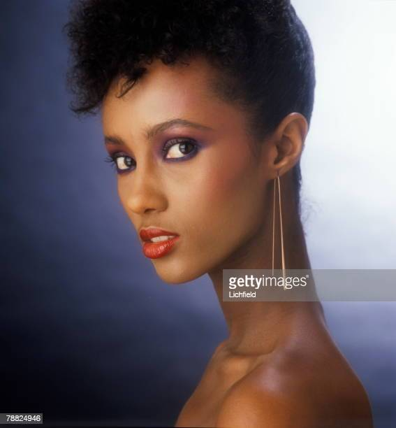 Somali born supermodel actress and businesswoman Iman photographed in the Studio for the book 'Lichfield The Most Beautiful Women' on 25th November...