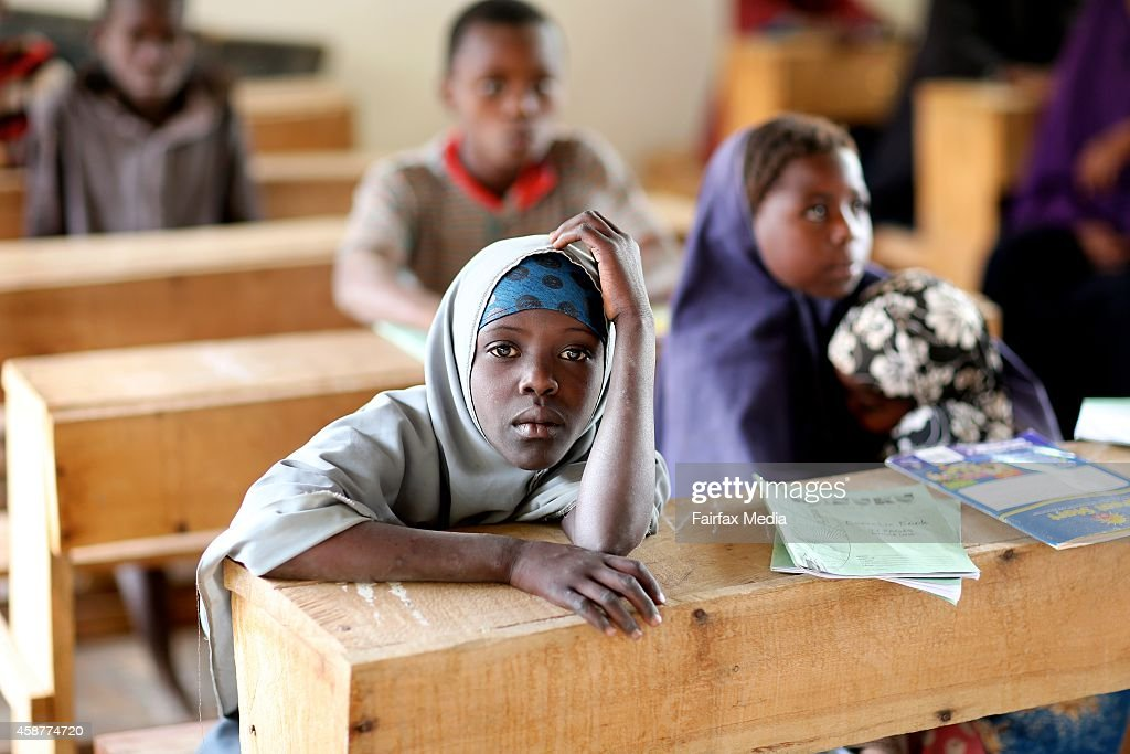 Somali children attend school in the Dadaab refugee camp in Kenya July 14 2014 Conflict in Somalia and the long walk to the camp have caused the...