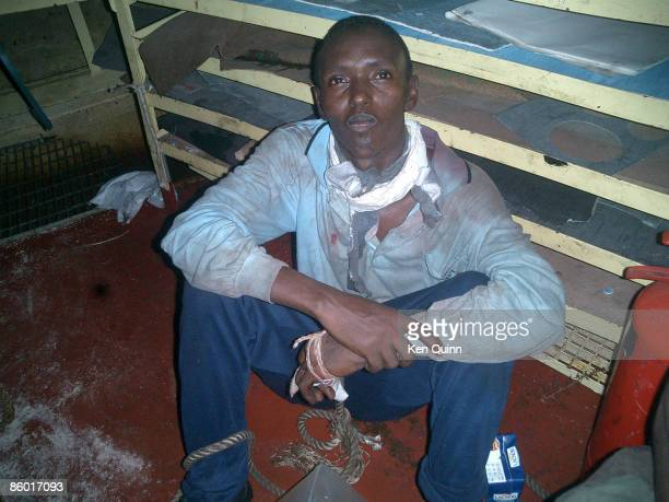 A Somali pirate captured by members of the crew of the Maersk Alabama on April 8 2009 on board the Maersk Alabama The Alabama's Second Mate Ken Quinn...