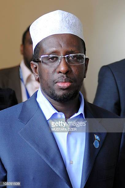Somali President Sharif Sheikh Ahmed leaves his hotel on May 23 2010 in Istanbul following an UNsponsored international conference on ending...