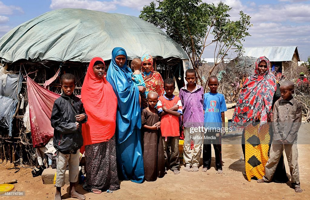 Somali woman Fatuma lives with her 9 children and mother in the Dadaab refugee camp in Kenya July 15 2014 Somali was deserted by her husband who has...