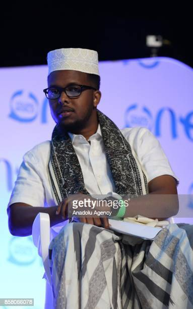 Somalian activist Abdullahi Mahmoud Mohammad attends the forum titled 'Poverty Alleviation and Economic Development' within the One Young World...