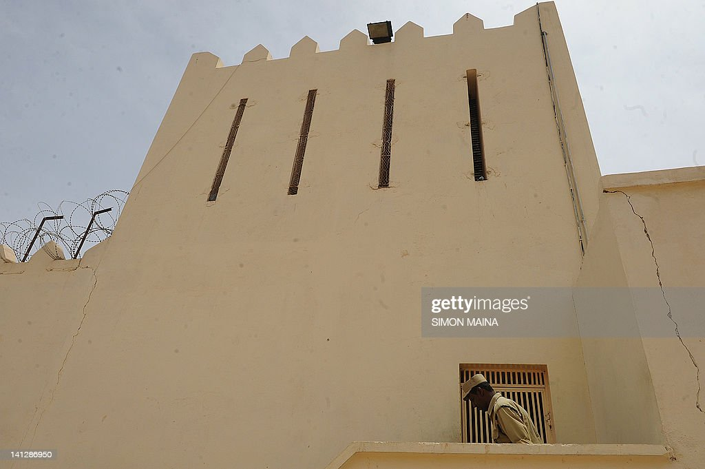 Somaliland prison warden stands guard on March 8 2012 at Hargesia's newlyrefurbished prison in the northern breakaway nation of wartorn Somalia...