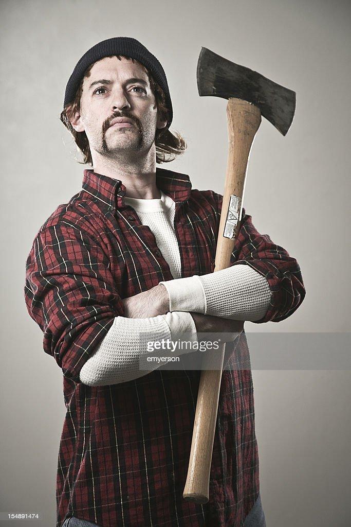 Somber Lumberjack : Stock Photo