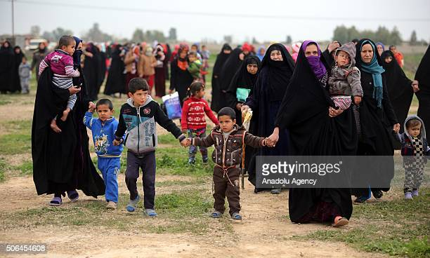 Some 500 families from the township of Uzaim in Iraqs Diyala province displaced when Daesh took over in 2014 are returning to their homes on January...