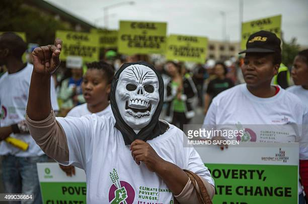 Some 700 people from different climate justice movements gather in the Johannesburg CBD on November 28 to protest against rising Global temperatures...