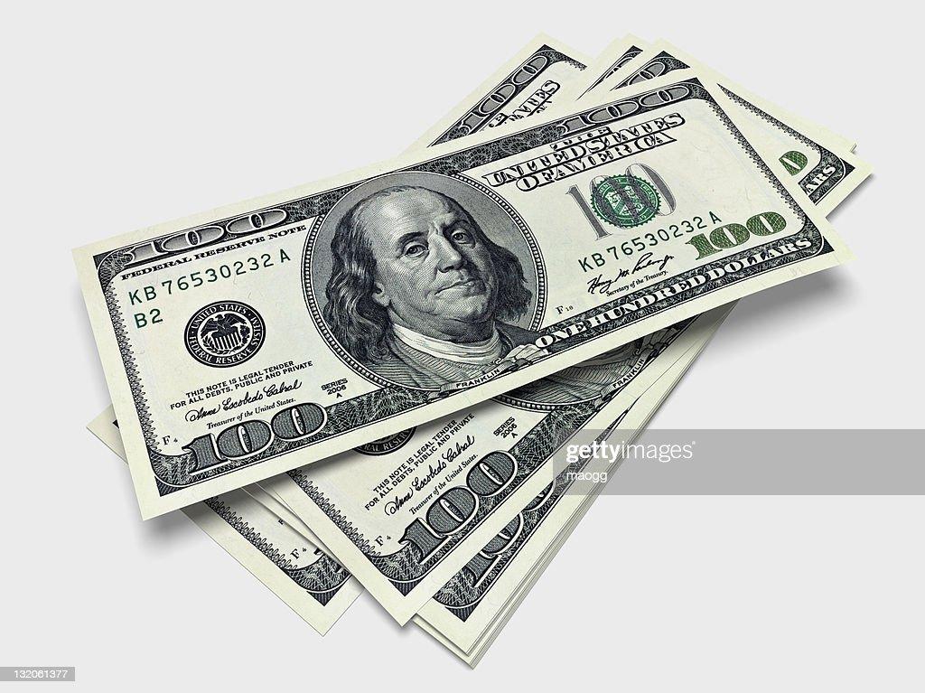 Some bills of one hundred dollars