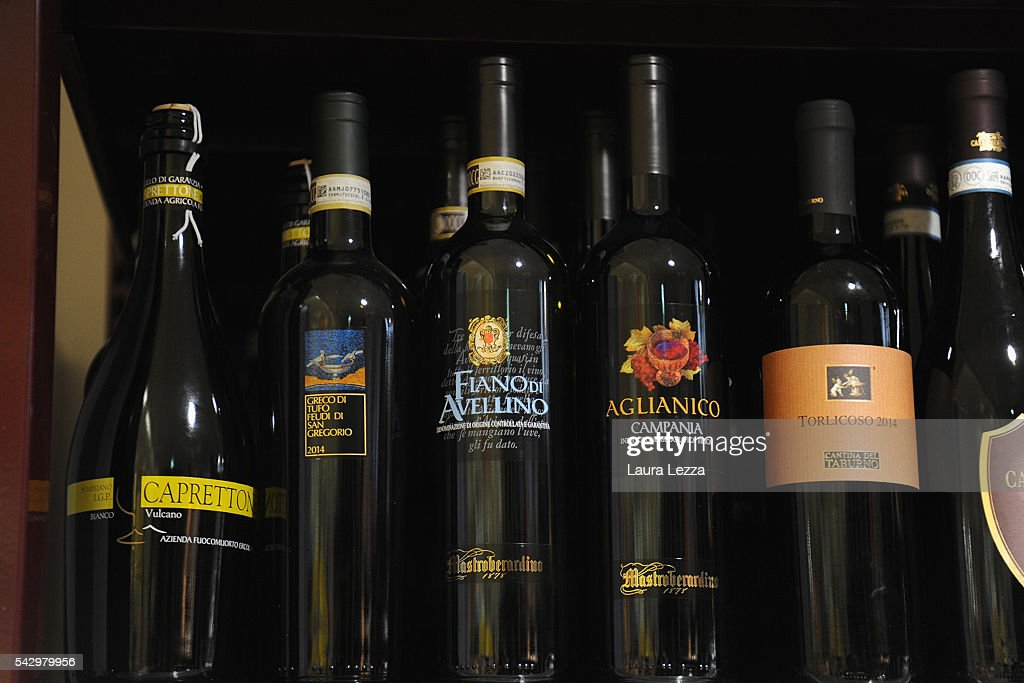 Some bottles of Italian wine that like other Italian products could become more expensive or difficult to find for England after the Brexit referendum are displayed in a supermarket on June 25, 2016 in the town of Nola near Naples, Italy. The results from the historic EU referendum has been declared and the United Kingdom has voted to leave the European Union.
