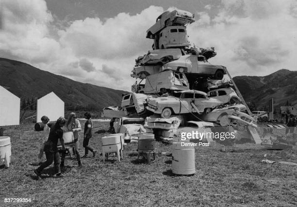 Some Call It Art Sortie students who created this 'composite' of wrecked car's at Aspen Colo call it 'a bunch of junk' while others calf it 'art' The...