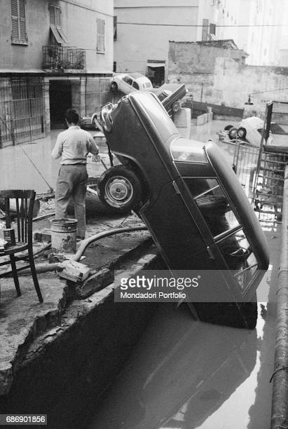 Some cars submerged by the flood of 7th October The flood was caused by a strong rain which made torrents Bisagno and Ferreggiano overflow This...