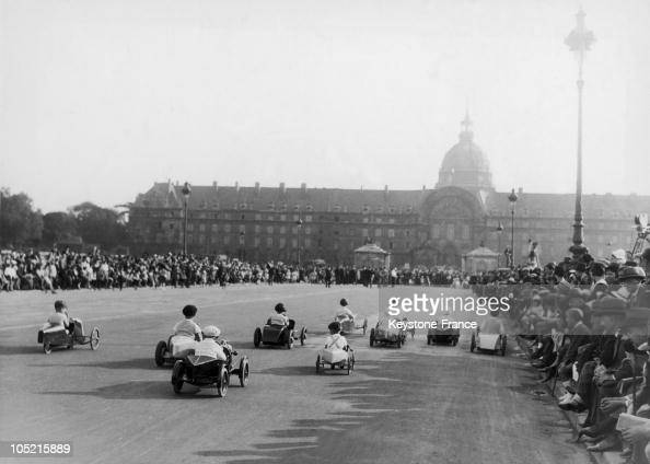 Some Children Taking Part Into The Miniature Cars And Pedal Cars On Place Des Invalides In Paris In The Framework Of The Annual Celebration Of The...