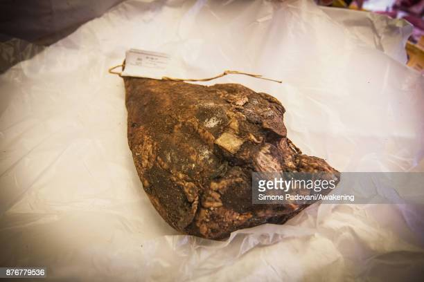 Some dried mutton for the 'Castradina' a dish made with dried mutton and cabbage typical of the traditional Festa della Salute is seen on November 20...