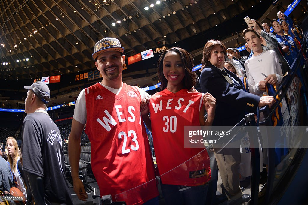 Some fans wear Draymond Green and Stephen Curry all star jerseys on February 9 2016 at Oracle Arena in Oakland California NOTE TO USER User expressly...