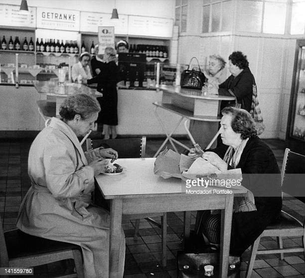 Some German women having lunch at a restaurant in East Berlin East Berlin August 1961