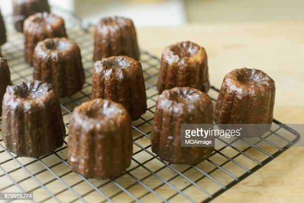 Some little cakes on cooling rack