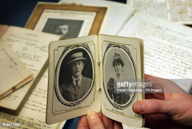 Some maunscripts letters and photographs of Sir Arthur Conan Doyle and other previously unseen material including his wedding photographs of his...