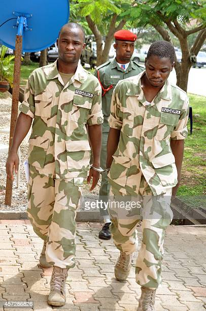 Some of 59 Nigerian soldiers facing trial on charges of mutiny and conspiracy to commit mutiny over claims that they refused to fight Boko Haram...