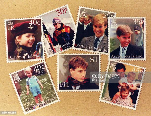 Some of stamps issued to mark the 18th birthday of Britain's Prince William around the world The Crown Agents Stamp Bureau in Sutton Surrey have...