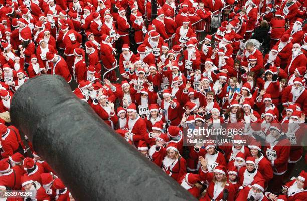 Some of the 13000 Santas who gathered at the Guildhall in Derry City to break the world record for the amount of Father Christmas' in one place The...