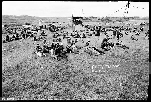 Some of the audience at Leigh Open Air Festival held on excoal board wasteland off Plank Lane Leigh Lancashire 27th August 1979 On the bill are Joy...