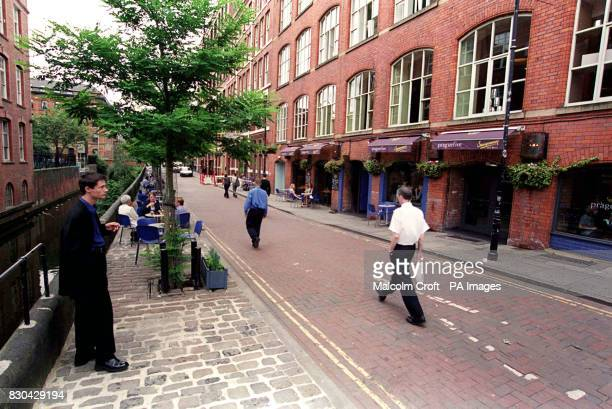 Some of the bars in Canal Street Manchester a famous gay district of the city
