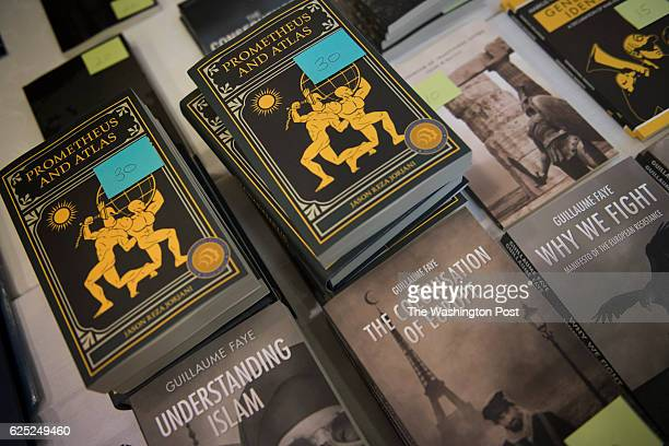 Some of the books available for purchase at an Alt Right conference hosted by the National Policy Institute in Washington DC on November 18 2016 The...