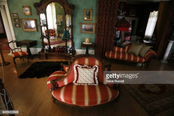 TORONTO ON AUGUST 17 Some of the cushions and drapes and bedspreads on display at Toronto historic sites are made by Tracy Gorman Tracy Gorman sews...