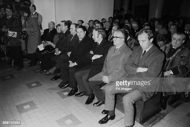 Some of the delegation from the Republic of Ireland Government are seen at the requiem mass at St Mary's Church Creggan Hill for the 13 who died in...