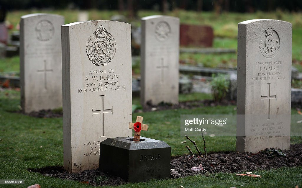 Some of the headstones in a plot of war graves that have recently been restored are seen at Trowbridge Cemetery on December 14, 2012 in Trowbridge, England. The group of 19 war graves has been renovated as part of a wider programme across the UK recognising those who died in the two world wars. The Commonwealth War Graves Commission is responsible for marking and maintaining the graves of those members of the Commonwealth forces who died during the two world wars, for building and maintaining memorials to the dead whose graves are unknown and for providing records and registers of these 1.7 million burials and commemorations found in most countries throughout the world.