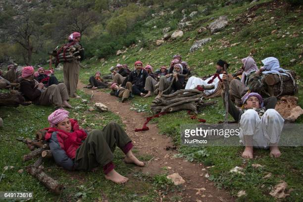 Some of the many thousands of Yezidis who lived in Lalish in northern Iraq near the border with Iraqi Kurdistan Lalish is the site of the tomb of...