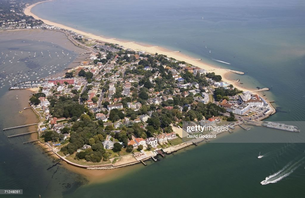 Some of the most expensive housing in the UK can be found on this peninsula of sand called Sandbanks in this aerial photo taken on June 8 2006 above...