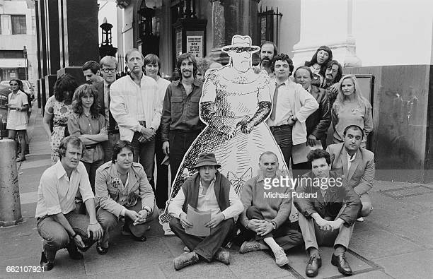 Some of the performers at rehearsals for 'The Secret Policeman's Other Ball' outside the Drury Lane theatre London September 1981 The show is a...