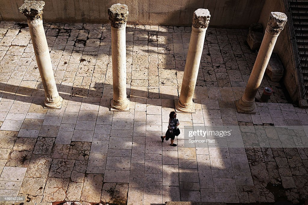 Some of the Roman ruins are seen in the Old City on November 30 2014 in Jerusalem Israel Nine Israelis have been killed in a series of stabbings...