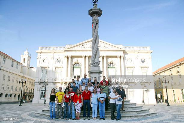 Some of the St Anthony's day couples are seen near Camera Municipal de Lisboa in Lisbon Portugal Friday June 9 2006 Lisbon is celebrating St...