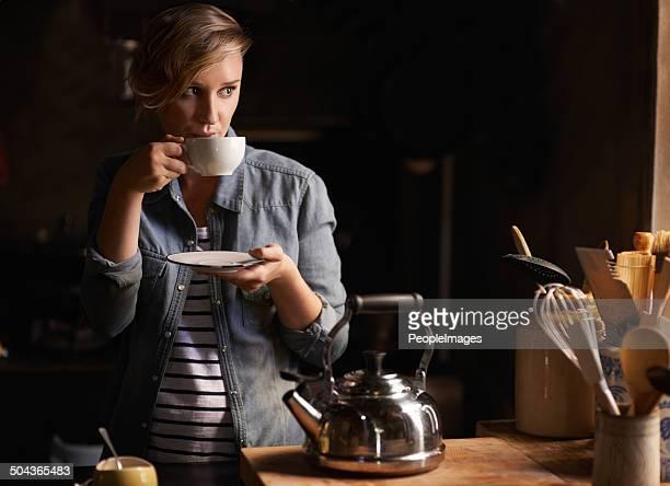 Einige ruhige Zeit mit einer Tasse Tee