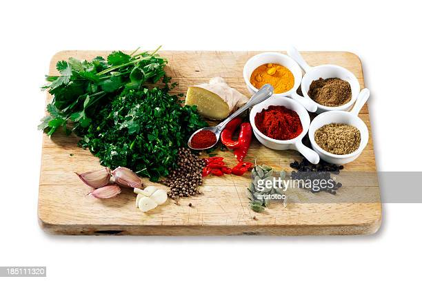 Some Spices and Ingredients for Curry