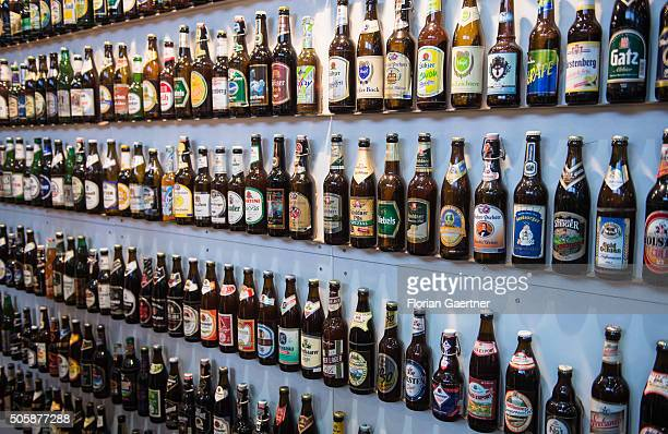 Some varieties of beer are shown on January 19 2016 in Berlin Germany