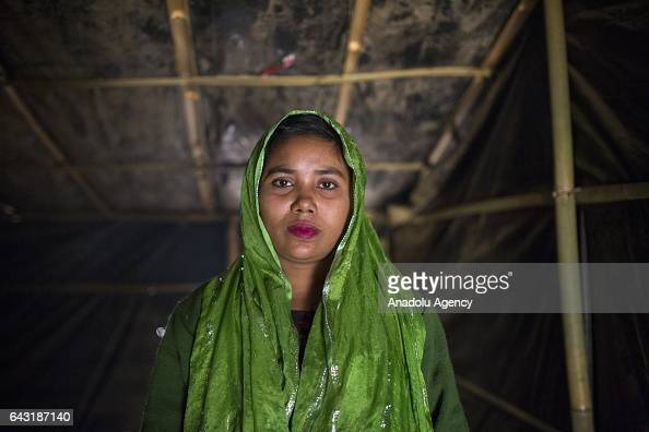 COX'S BAZAR BANGLADESH FEBRUARY 20 Someda Begum one of the women who were raped by Myanmar armed forces members takes shelter at Leda unregistered...