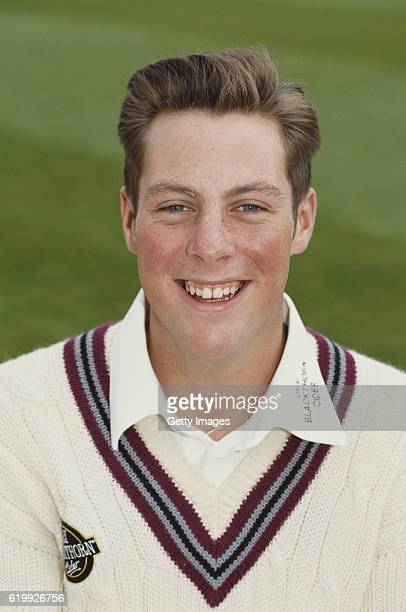 Somerset batsman Marcus Trescothick pictured at the pre season photocall ahead of the 1994 season at the County Ground in Taunton England