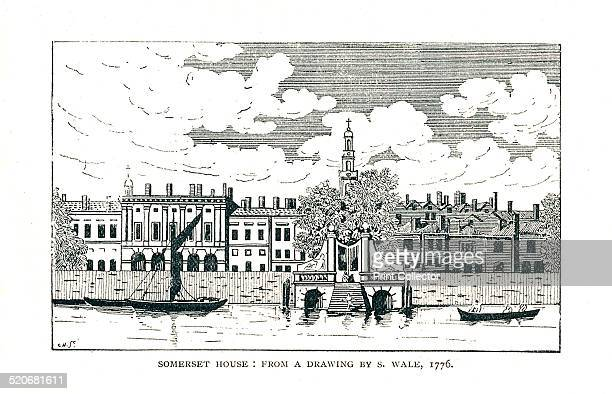Somerset House London from a line drawing by SWale 1776