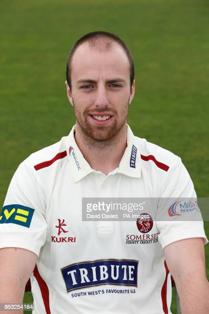 Somerset's Jack Leach during a media day at The County Ground Taunton