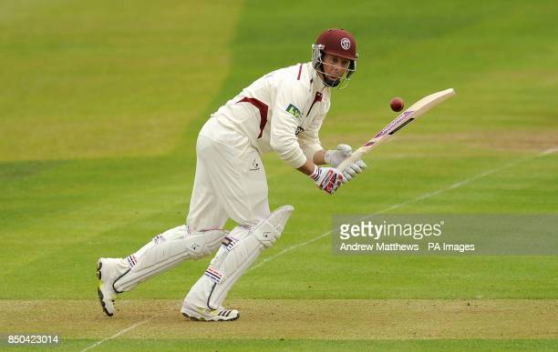 Somerset's Marcus Trescothick bats during the LV= County Championship Division One match at the County Ground Taunton