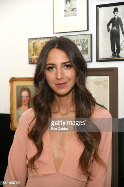 Something Navy Blogger Arielle Charnas attends the Fossil Firsts Dinner Hosted By Something Navy at 33 Greenwich on May 11 2017 in New York City